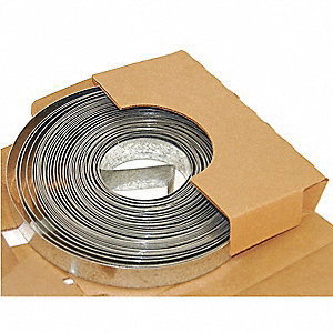 10ft Galvanized Steel Duct Strapping, 20 Gauge