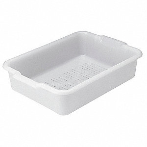 "20"" x 15"" x 5"" Polyethylene Drain Box Only, White"