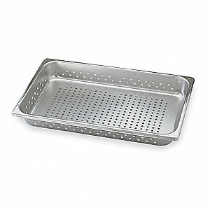 Perforated Pan,Full-Size, 14 Qt.