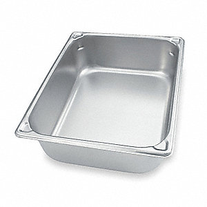 "6-3/8"" x 10-3/8"" x 2-1/2"" 1.8 Qt. Stainless Steel Steam Table Pan"