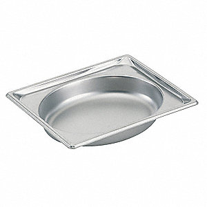 "10-1/4"" x 12-13/16"" x 2-1/2"" 2.2 Qt. Stainless Steel Steam Table Pans"