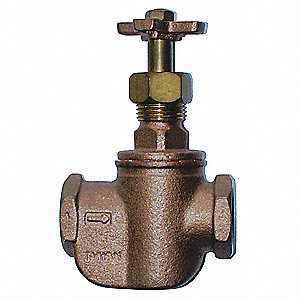 Straight Control Valve,3/4 In,FNPT,Brass
