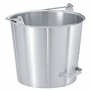 Stainless Steel Dairy Pail, Silver