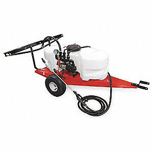 Trailer Sprayer, 15 gal. Tank Capacity, 2.1 gpm Flow Rate, 60 PSI