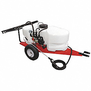 Trailer Sprayer, 25 gal. Tank Capacity, 2.1 gpm Flow Rate, 60 PSI