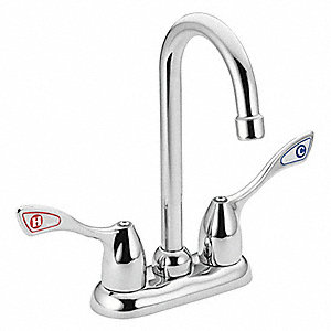 MOEN COMMERCIAL Metal Gooseneck Kitchen Faucet Manual Faucet - Moen commercial bathroom faucets