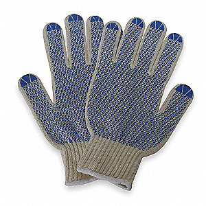 Knit Gloves,XL,Natural/Blue,PR