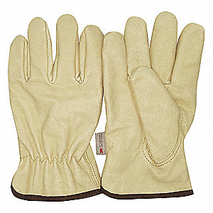 Cold Protection Gloves, Thinsulate Lining, Slip-On Cuff, Cream, M, PR 1