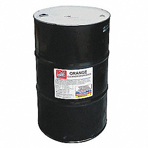 55 gal. Water-Based With Orange Scent Cleaner Degreaser, Clear Orange