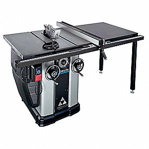 "10"" Cabinet Table Saw, Blade Tilt: Right/Left, 5/8"" Arbor Size, 4300 No Load RPM"