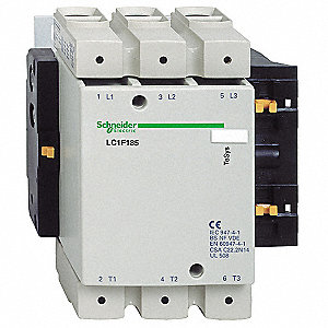 120VAC IEC Magnetic Contactor&#x3b; No. of Poles 3, Reversing: No, 185 Full Load Amps-Inductive