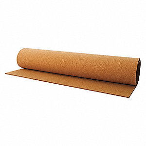Cork Roll,BB14,1.2mm Th,48 In x 545 Ft