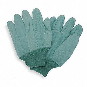 Fleece Chore Gloves, Knit Cuff, 18 oz. Fabric Weight, Green, L, PR 1