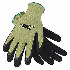 13 Gauge Foam Natural Rubber Latex Coated Gloves, Glove Size: S, Green/Black