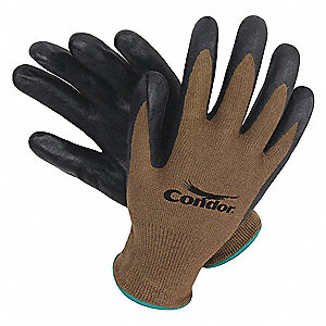 13 Gauge Foam Nitrile Coated Gloves, Glove Size: 2XL, Brown/Black