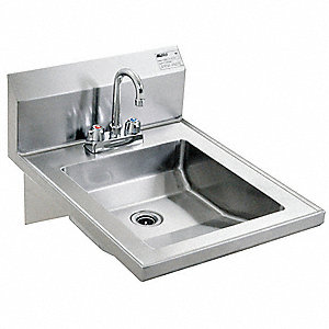 Hand Sink,With Faucet,19 In. L,24 In. W