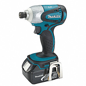 "1/4"" Hex Cordless Impact Driver Kit, 18.0 Voltage, 1420 In.-lb. Max. Torque, Battery Included"