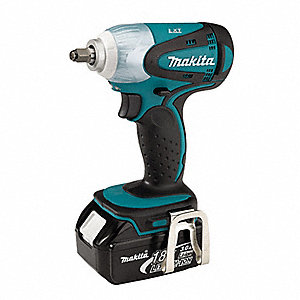 "3/8"" Cordless Impact Wrench Kit, 18.0 Voltage, 155 ft.-lb. Max. Torque, Battery Included"