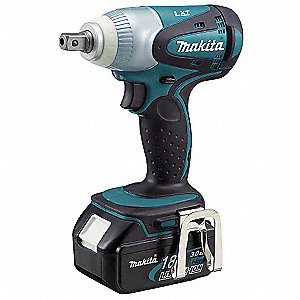 "1/2"" Cordless Impact Wrench Kit, 18.0 Voltage, 170 ft.-lb. Max. Torque, Battery Included"