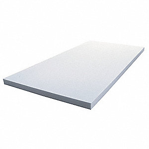"Melamine Foam Insulation Sheet, 24"" x 48"". 1/2"" Thickness, Light Gray"