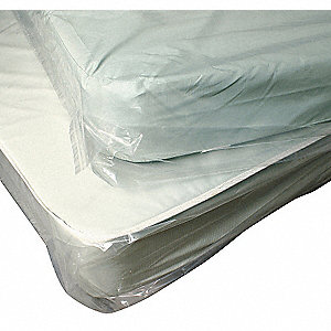 King, Pillow Top Size Mattress Bag, Clear, 4 mil Thickness