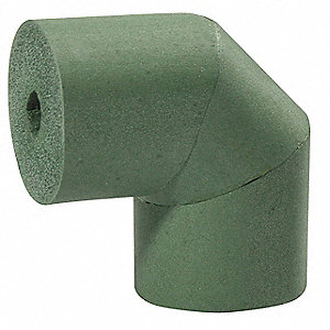"5/8"" Pipe Fitting Insulation for 90° Elbow, Halogen-Free NBR Based Elastomeric, Green"