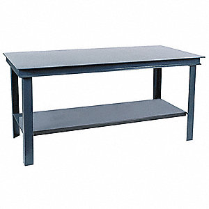 "Workbench, 60"" Width, 36"" Depth  Steel Work Surface Material"