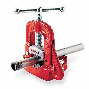"Bench Yoke Vise, 1/8 to 4"" Pipe Capacity, 5"" Overall Height"