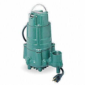 1 HP Submersible Sump Pump, None Switch Type, Cast Iron Base Material