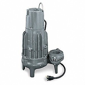 2 HP Manual Submersible Sewage Pump, 460 Voltage, 184 GPM of Water @ 15 Ft. of Head