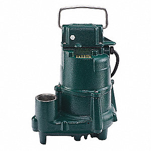 1/2 HP Submersible Sump Pump, None Switch Type, Cast Iron Base Material