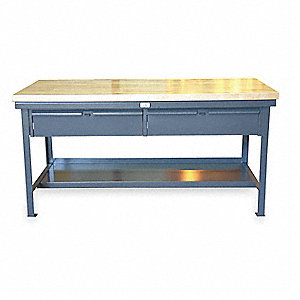 "Workbench,Butcher Block,48"" W,30"" D"