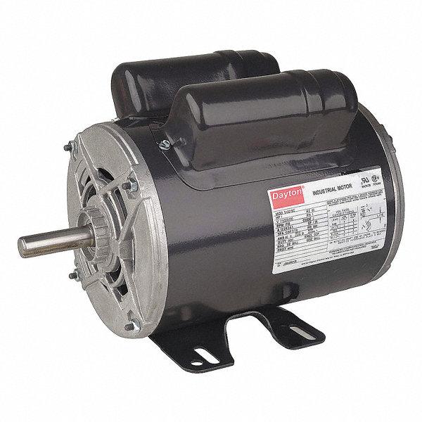 Dayton 1 hp poultry fan motor capacitor start run 1725 for Dayton capacitor start motor