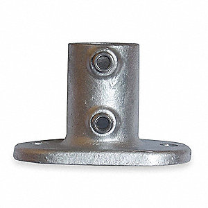 Railing Base Flange,Pipe Size 1 1/4 In