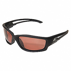 Kazbek Scratch-Resistant Polarized Safety Glasses, Copper Lens Color