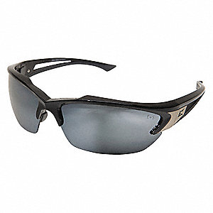 Khor Scratch-Resistant Safety Glasses, Silver Mirror Lens Color
