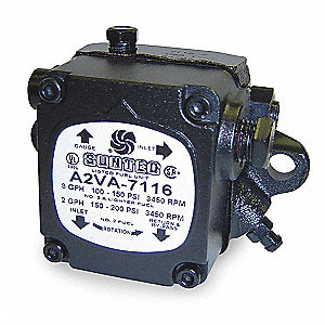 Oil Burner Pump, Number of Stages 2, 7 GPH, Adjustable PSI Range 100 to 200, 3450 RPM