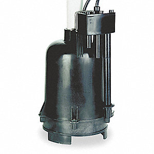 Sump Pump,1/3 HP,1-1/2In NPT,32ft Max,CI