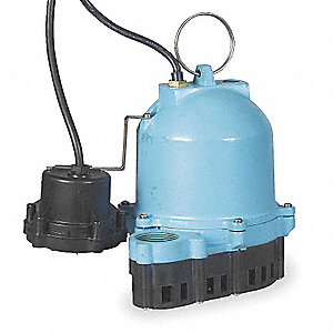 1/3 Pump HP Submersible Sump Pump, Diaphragm Switch Type, Polypropylene Base Material