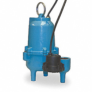 1/2 HP Automatic Submersible Sewage Pump, 115 Voltage, 48 GPM of Water @ 15 Ft. of Head