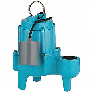 4/10 HP Automatic Submersible Sewage Pump, 115 Voltage, 30 GPM of Water @ 15 Ft. of Head