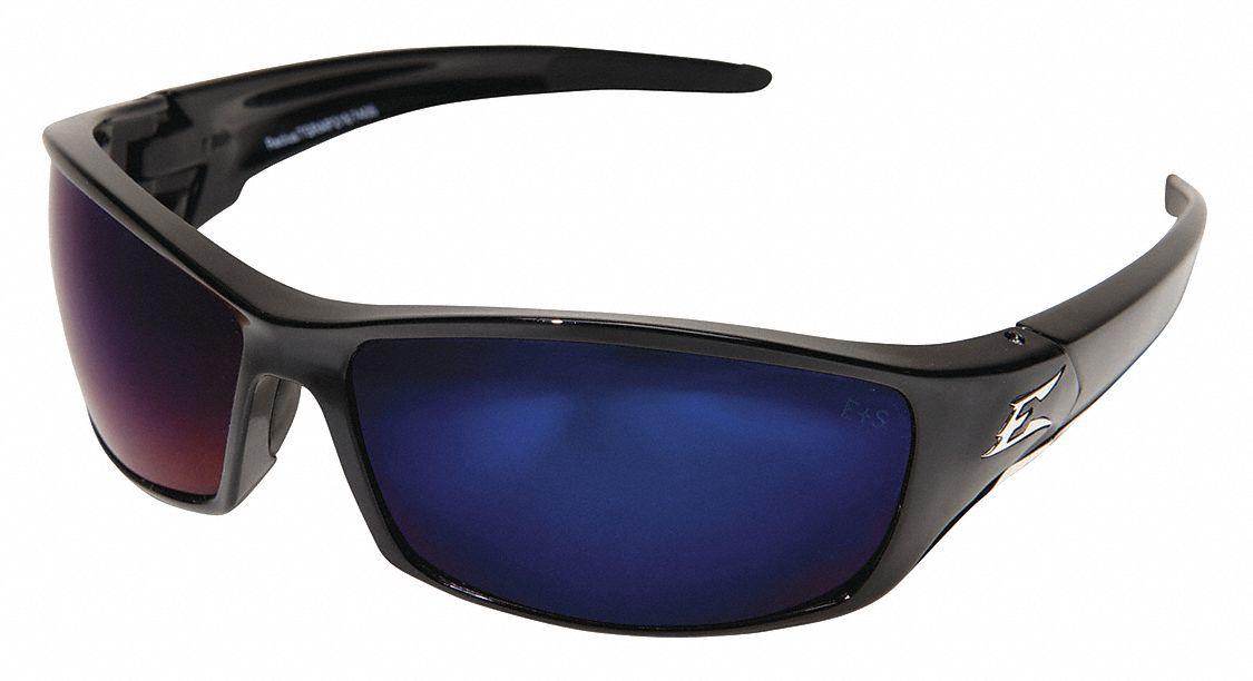 Eyeglass Frame Inventory Management : EDGE EYEWEAR Reclus Scratch-Resistant Safety Glasses, Blue ...