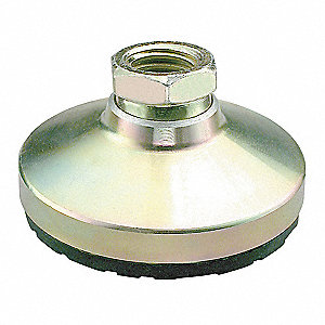 "Leveling Mount, Boltless, 15,000 lb. Load Capacity, 2"" Height, Nickel"