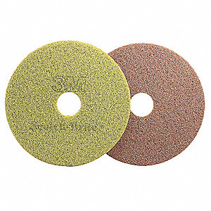 "13"" Non-Woven Polyester Fiber Round Diamond Floor Pad Plus, 175 to 350 rpm or 1500 to 3000 rpm, Sien"