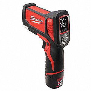 Infrared Thermometer, -22° to 1472°F Temp. Range (F), Includes: Mfr. No. 2277-20 Laser Temp Gun(TM)