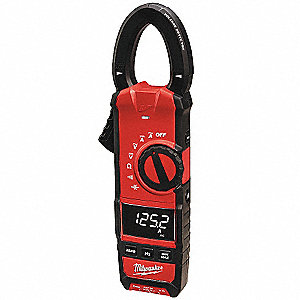 "Clamp On Digital Clamp Meter, 1-1/3"" Jaw Capacity, CAT III 600V"
