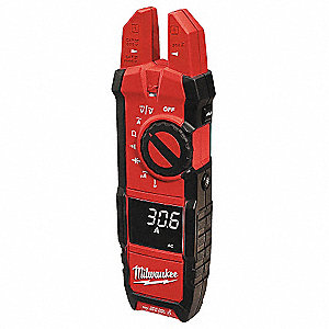 "Clamp On Digital Clamp Meter, -40° to 752°F Temp. Range, 5/8"" Jaw Capacity, CAT IV 600V"