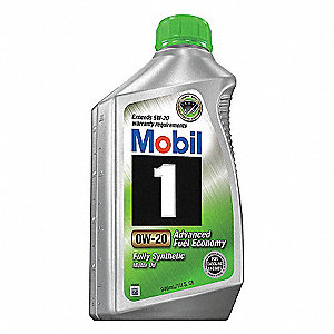 Mobil 1 0W-20, gals Engine Oil, 1 qt.