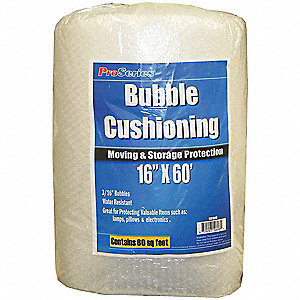Bubble Roll,16In. x 60 ft.,Clear