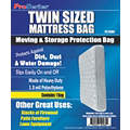 Twin Size Mattress Bag, Clear, 1.5 mil Thickness